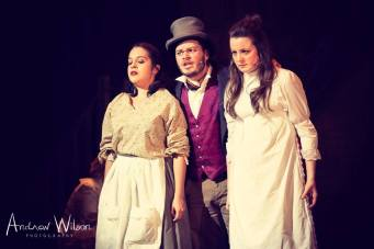 Andy Blagrove (Bill Sykes) with Chilina Thurlby-Brooks and Clare Dovey-Wilson