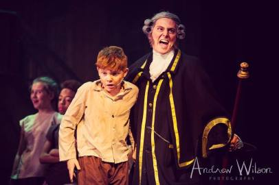 Mason Chandler-Wickens (Oliver) and Guy Grimsley (Mr Bumble)