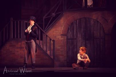 Danny Mellin (Dodger) and Mason Chandler-Wickens (Oliver)