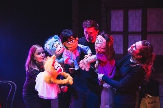 Libby Holcoft and Nicola Blake (The Bad Idea Bears), Princeton (Guy Grimsley) and Kate Monster (Nicola Taylor)
