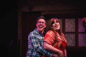 Katie Bedborough (Christmas Eve) and Dave Crewe (Brian)