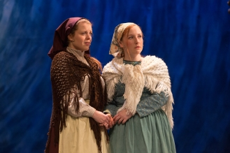 Hannah Mullan (Chava) and Laura O'Mahoney (Hodel)