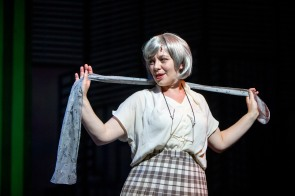 Nicola Jones as Roz, 9 to 5, New Theatre, May 2018