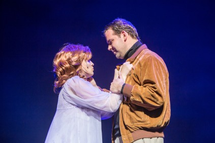 Alex Williams and Nicola Blake as Dick and Judy, 9 to 5, New Theatre, May 2018