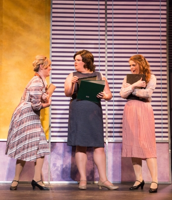 Rebi Walsh, Frankie Alexadra and Hannah Mullan, 9 to 5, New Theatre, May 2018